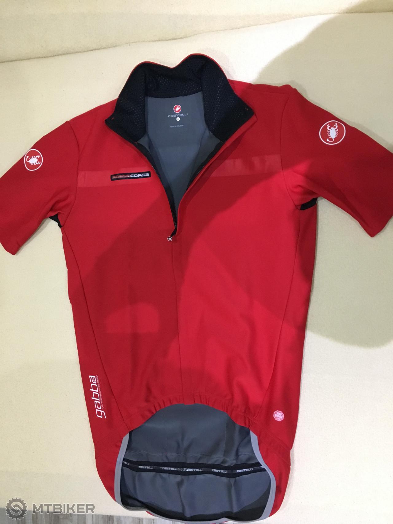 950598f203b46 Cyklo Dres Castelli Gabba 2 červená _krátky Rukáv - Príslušenstvo -  Oblečenie a batohy - Bazár MTBIKER