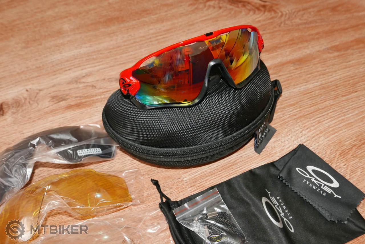 7e8905f03 Oakley Jawbreaker + 4 Sklá - Replika - čierno červené - Príslušenstvo -  Okuliare - Bazár MTBIKER
