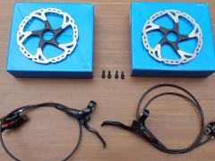 Kotucove Brzdy Shimano + Kotuce Shimano Xt 180mm 2x