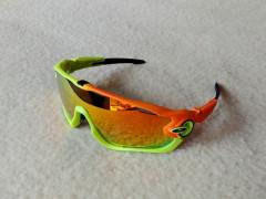 Športové Okuliare Jawbreaker, Neon Green/orange, Polarized