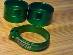 Ľahká Hliníková Objímka - 34.9mm, Zelená
