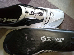Špičkové ľahučké Karbónové Tretry Bont Blitz Full Carbon White/black Veľ. 47 Nové