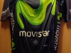 Original Set Movistar Team Endura Velkost S (dres, Krátke Gate A Vesta)