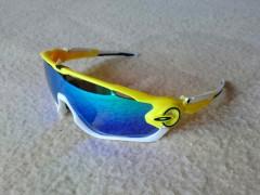 Športové Okuliare Jawbreaker, Yellow/white, Polarized, Repl.