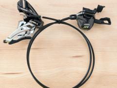 Sada (alebo Osobitne) Shimano Xt M8000 ľavé. I-spec Ii + Side Swing Xt M8020 Prešmykovač
