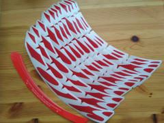 Nálepky / Polepy Na Kolesá Ibis 27.5 červená A Sivá