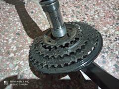 170mm Kľuky Shimano 3x8+ Pedále+stredové Zloženie