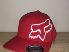 Fox šiltovka Clouded Flexfit Red / White
