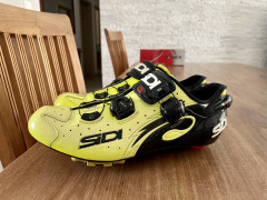 Sidi Wire Carbon Vernice Yellow Fluo 44