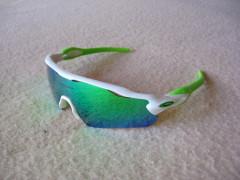 Športové Okuliare Radar Ev, White/green, Polarized, Repl.