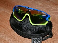 Oakley Jawbreaker + 4 Sklá - Replika Zeleno Modré