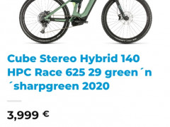Cube Stereo Hybrid 140 Hpc Race 625