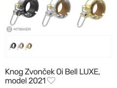 Knog Zvonček Oi Bell Luxe čierny