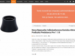 Nova Nepouzita Celkokarbonova Konicka 40mm Podlozka Predstavca Pre 1 1/8