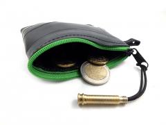 Peňaženka Na Mince Vyrobená Z Recyklovanej Duše Bicykla