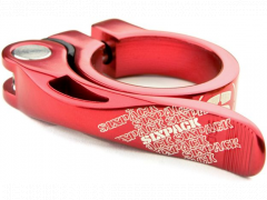 Rýchloupínak Sixpack Menace Seatclamp 31,8mm Red Red Anodized