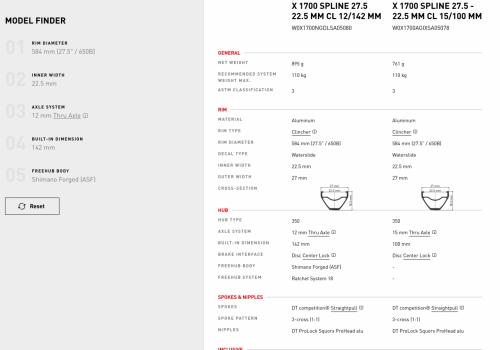 DT Swiss X 1700 specs