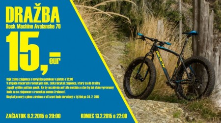 Do piatku 13.2.2015 (22:00 hod.) dražíme FatBike od Rock Machine - Avalanche 70