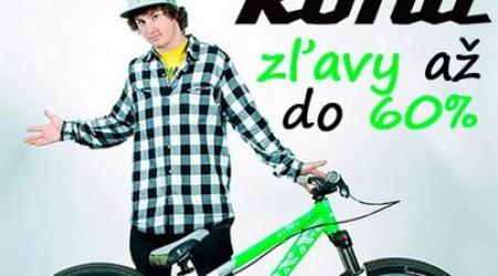 Nové bicykle Kona za cenu jazdených