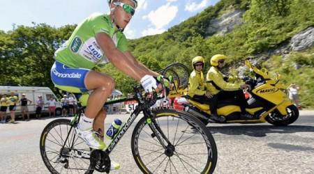 Sagan finišoval druhý a bol najbojovnejším v etape
