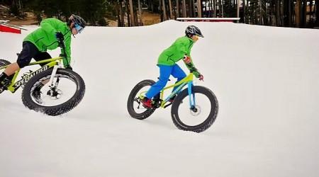 Specialized fatbike: Na snehu, piesku, hline, blate a aj vo vzduchu