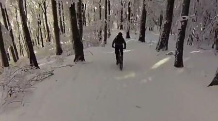 Snežný výjazd za novou rozhľadňou na najvyššom kopci v Považskom Inovci
