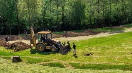 Pumptrack Lučina - Ako napreduje budovanie