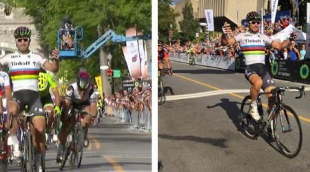 Peter Sagan skvelým záverom víťazom klasiky v Québecu