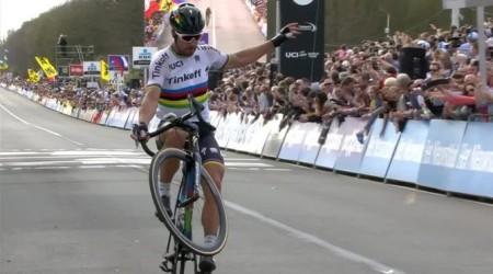 Víťazný dojazd Petra Sagana na jednej z najťažších klasík - Tour of Flanders