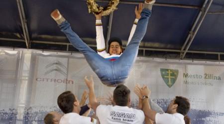 Oslavy majstrovského titulu Petra Sagana v Žiline