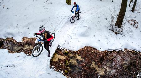 Reportáž: Stupava Winter Trophy MTB&RUN – malá škola šmyku