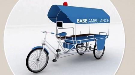 Pomoc pre rozvojové krajiny - ambulancia na bicykli