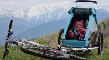 Jazdíme s cyklovozíkom, alebo dieťa v prívese