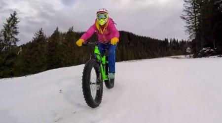 S fatbikom na lyžiarskom svahu