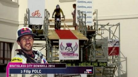 Video z finálovej jazdy Filipa Polca, ktorou vyhral preteky Bratislava City Downhill 2014