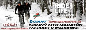 GIANT 1. Zimný MTB maratón na Slovensku 2009