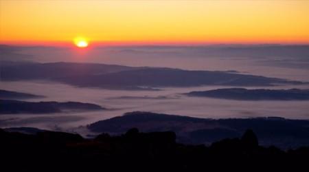 Jesenná inverzia na Babej hore