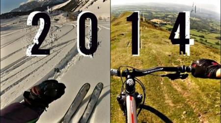 Rok 2014 s GoPro na biku aj lyžiach