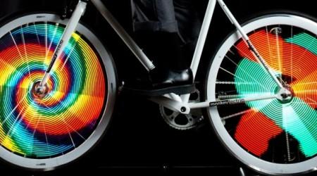 Revolučné osvetlenie bicyklov - Monkey Lights