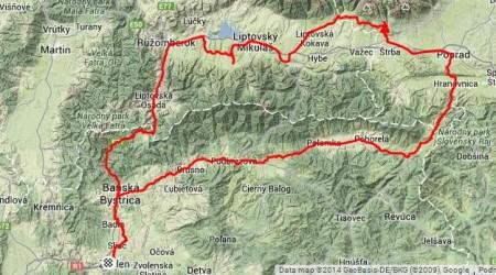 336 kilometrová cykloporcia okolo Nízkych Tatier