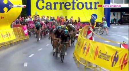Video: V dnešnej etape Okolo Poľska Peter Sagan na 3. mieste, no stále v žltom