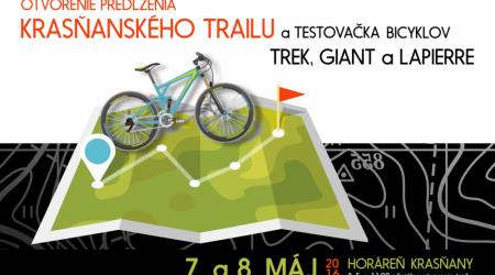 Otvorenie predĺženia Krasňanského single trailu a testovačka bicyklov Trek, Giant a Lapierre
