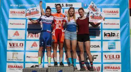 Slovenskí horskí cyklisti opäť bodovali na českom pohári, Paulechová vybojovala 2.miesto