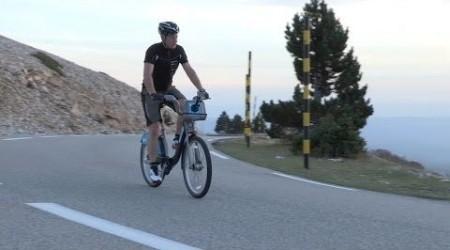 Boris bike na Mont Ventoux