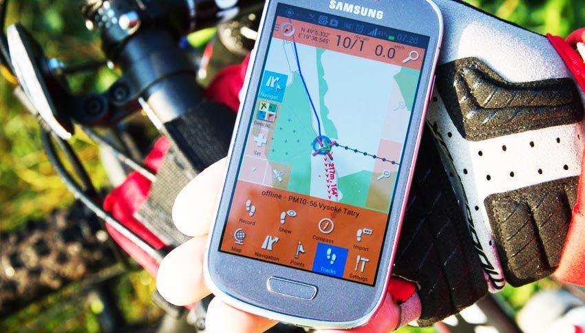 SmartMaps - Jazdenie v horskom teréne