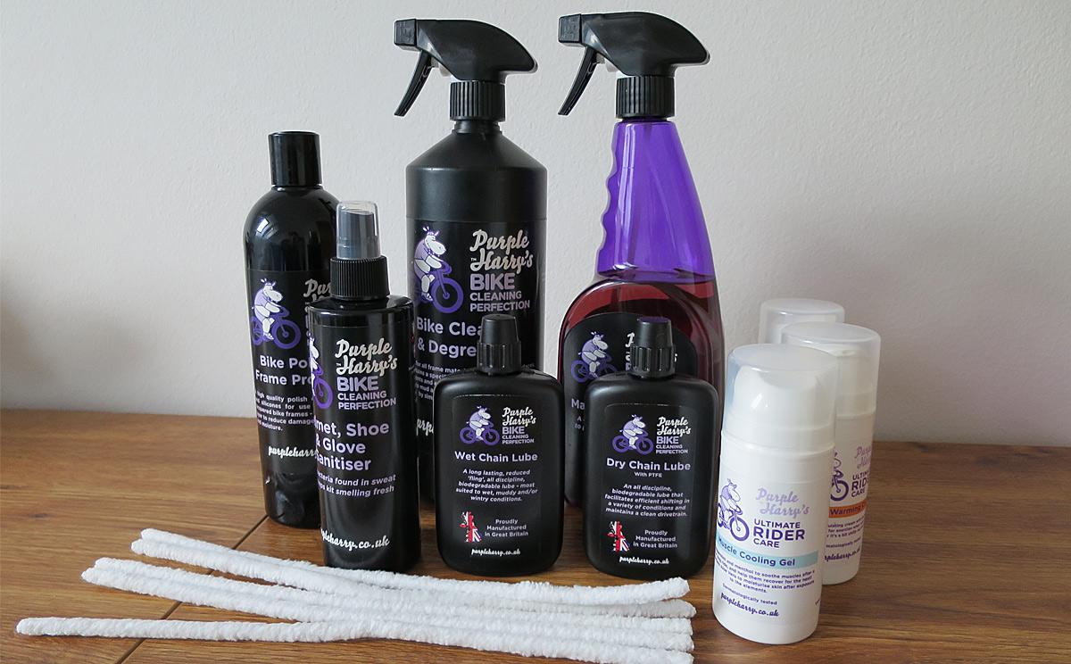 Test: Výbava od Purple Harry - čistenie, údržba a mazanie bicykla, ako aj starostlivosť o jazdca