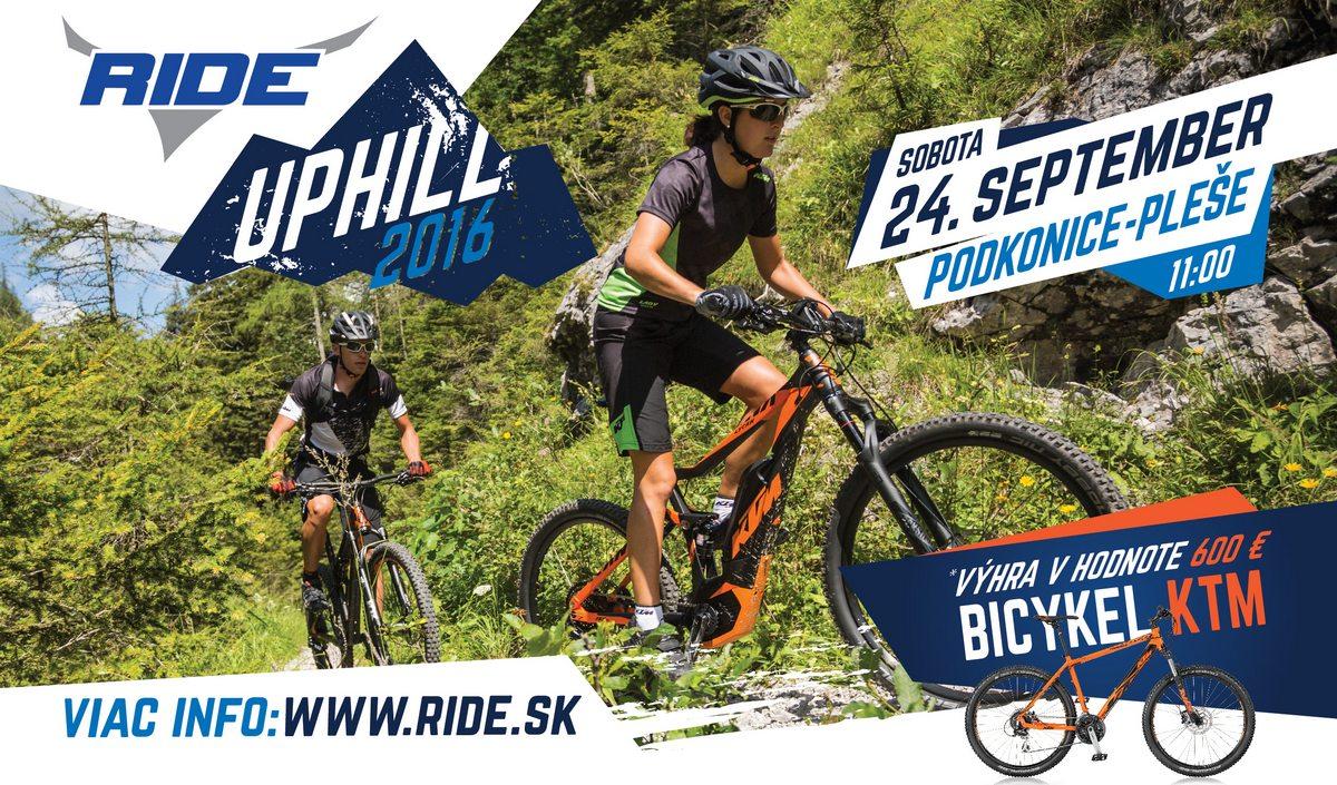 Pozvánka: RIDE UPHILL 2016 - preteky e-bikov a bikov do vrchu
