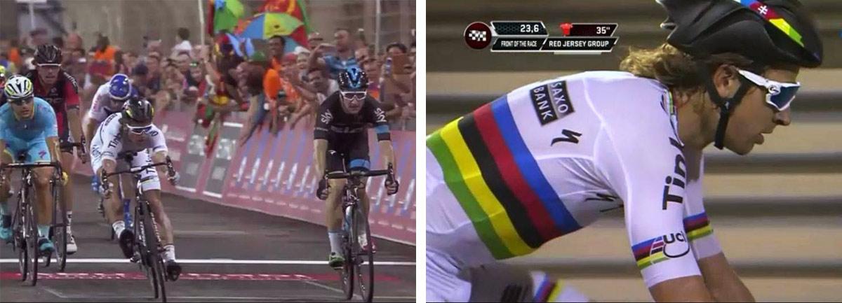 Okolo Abú Zabí: Viviani v šprintérskej koncovke po 110 km len o malý kúsok prednej časti bicykla zdolal Petra Sagana