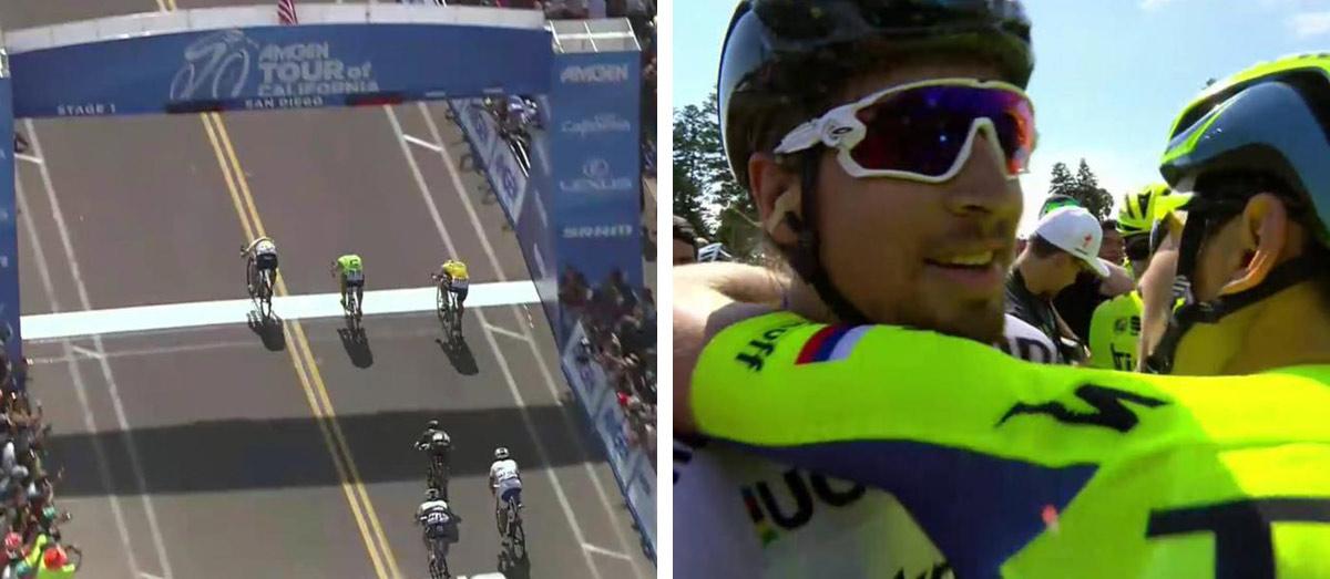 Víťazný finiš Petra Sagana v San Diegu na prvej etape cyklistických pretekov Okolo Kalifornie