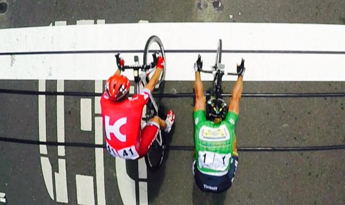 Peter Sagan druhý len o niekoľko centimetrov v 7. etape, predtým mal veľké sólo